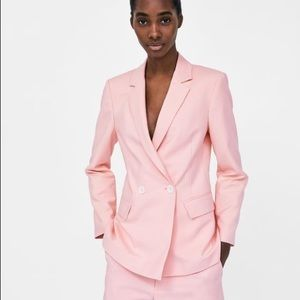 ❌SOLD❌Zara light pink double- breasted blazer